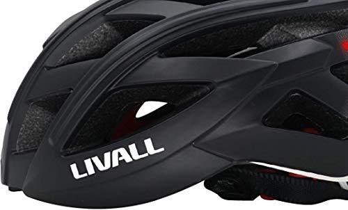 LIVALL BH60SE 黒(BLACK) 自転車 ヘルメット LEDライト 方向指示器 3軸センサー 安全アラート ブルートゥース 音楽視聴 電話機能 トランシーバー GPSナビゲーション