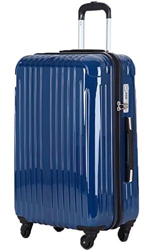 (ラッキーパンダ) Luckypanda スーツケース 超軽量 機内持ち込み TSAロック アウトレット TY001 キャリーバッグ キャリーケース かわいい キャリーバック ファスナー ハード バッグ バック 旅行かばん Suitcase Luggage amazon (S, ネイビー)
