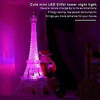 NancyMissY 多色LEDプラスチック省エネボタンロマンチックなエッフェル塔の色を変えるLEDナイトライトベッドルームホームデコレーションYphg-F115