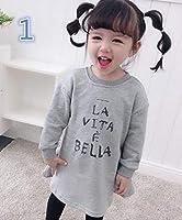 春秋キッズ 女の子 トップス Tシャツ ブラウス 4色