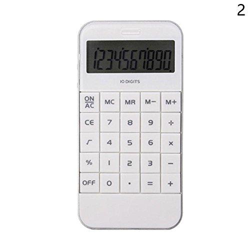 (ドリーミー ハット) Dreamy hut 電卓 学生計算器 10桁 電卓 文房具・オフィス用品 (ホワイト)