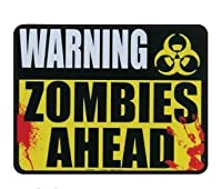 Warning Zombies Ahead - 5 x 4 Car Magnet by Kalan
