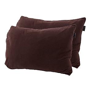 mofua ( モフア ) 枕カバー マイクロフリース ピローケース あったか 43×75cm 2枚組 ブラウン 50090006