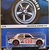 HOT WHEELS HERITAGE SERIES REAL RIDERS WHITE DATSUN BLUEBIRD 510