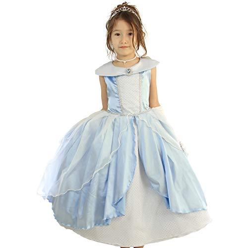 3bf44d8e217f8  ディズニー公式  子供ドレス ディズニープリンセス シンデレラ ドレス 結婚式 女の子 キッズ  リトル