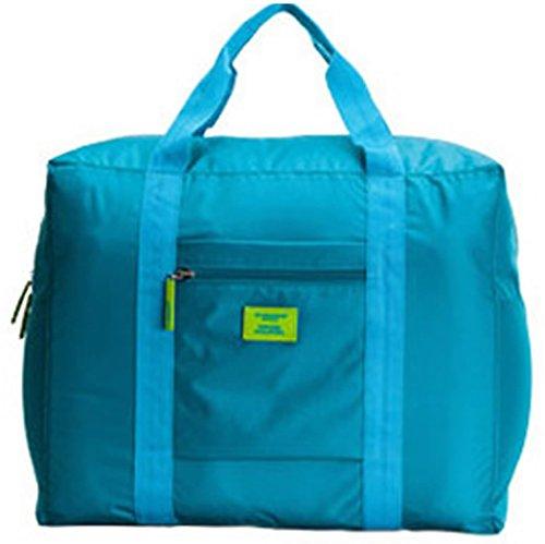 キャリーバッグの上に乗せるバッグ BAG on BAG バッグオンバッグ たっぷり収納 トラベル ビジネス 出張 (ブルー)