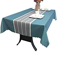 [QIFENGDIANZI]テーブルクロス 長方形 田園風 撥水 耐熱 防油 防塵 北欧 テーブルカバー 無地 汚れ防止 おしゃれ 手入れ簡単 厚手 ティーテーブル 台所 キッチン用品 飾り 多用途 120X170cm