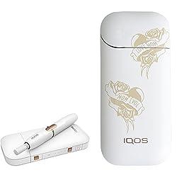 [ラブマム] オリジナル 刻印 デザイン アイコス 新型 iQOS 2.4 Plus KIT 国内正規品 本体 キット セット (ラブマム, ホワイト)