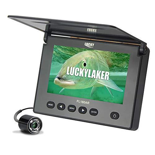 Luckylaker 魚群探知機 魚探 水中カメラ 魚群探知機 ポータブル 魚探ワカサギ釣り 船釣り 赤外線led付 夜釣り対応