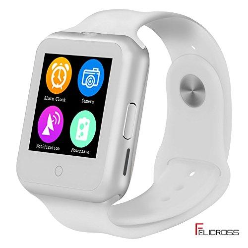 FUTUREWAY 多機能スマートウォッチFS01 スマホの着信通知と通話 Bluetooth 腕時計 micro SIM対応通話能/着信お知らせ/置き忘れ防止/歩数計/ストップウォッチ/高度計  ホワイト