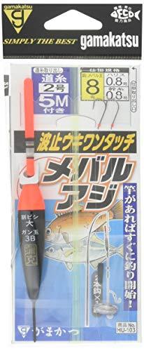 HU103波止ウキワンタッチメバル・アジ仕掛8号-ハリス0.8