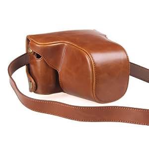 i-Beans(TM)Leica X Vario 対応上質なPUレザーケース ライカ デジタルカメラ ケース 一眼レフカメラケース ブラウン PU Leather Camera Case for Leica X Vario ショルダーベルト付【全3色】(3742-1)