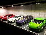 1/18 ジオラマ 地下駐車場 ガレージ LEDショーケース 棚 フェラーリ ランボルギーニ BMW ポルシェなどに