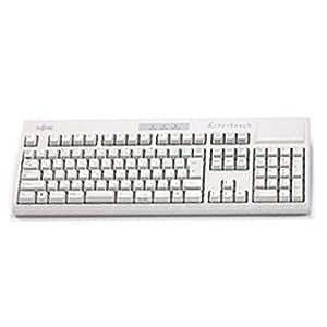 富士通コンポーネント Libertouch White USBキーボード 日本語108キー 入力荷重調整可能 ホワイト FKB8540-051/W