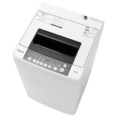 Hisenseハイセンスジャパン 5.5kg全自動洗濯機HW-E5501「風乾燥個別選択」スリム型50cm幅