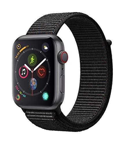 AppleWatch Series4(GPS+Cellularモデル)- 44mmスペースグレイアルミニウムケースとブラックスポーツル...