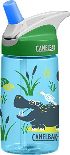 CamelBak Eddy Kids Water Bottles, Hip Hippos, 400mL