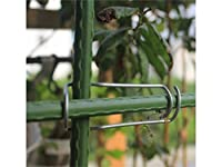 Osize 5 PCSガーデントレリスステークス植物コネクタークロスクリップトマトケージステークス8-11 mm