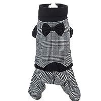 AXIANQI コットンの子犬の犬の子犬ペットの服の厚いテディベイの子犬の子犬秋と冬のエレガントな弓の高い首の綿のジャケット ペット用服 (サイズ さいず : L l)