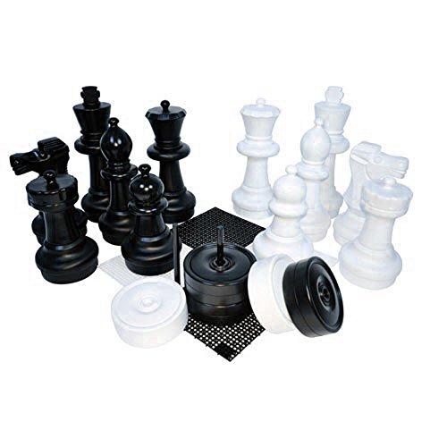 Kettler Junior GiantチェスとチェッカーComplete Set with 6x 6フィートLargeゲームボード