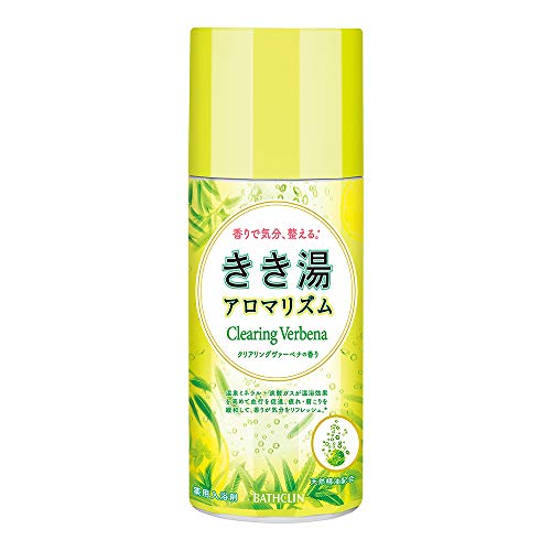 【医薬部外品】きき湯アロマリズム炭酸入浴剤 クリアリングヴァーベナの香り 360g 発泡タイプ