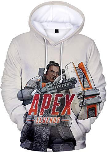 Pandolah メンズ プルオーバー スウェット 3Dプリント ゲームロゴ APEX LEGENDS エーペックスレジェンズ キャラクター 長袖 (M、ジブラルタル)