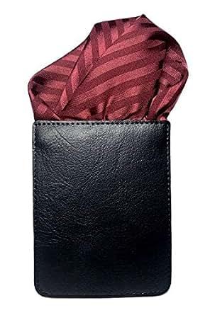 ポケットチーフ (フィックスポン) FixPon パッフド2 メンズ 織柄 ストライプ エンジ