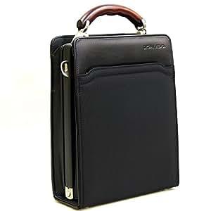 おしゃれ/カバン ダレスバッグ ビジネスバッグ 職人が丁寧に丹精込めて製作した物です シンプル 小さめサイズが良い!縦型ダレスバッグ 国産 ブラック(黒)