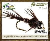 nymph-head Pheasant Tailブラック–Nymph ( 2- Pack )