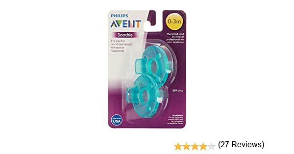 2 Pack AVENT Soothie Pacifier 0 2 Months Baby Feeding Dummies Soothers