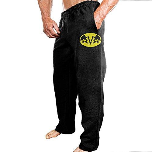 Tezeiカゼイ大人男性スウェットパンツブラックベイルブライズVsスーパーヒーロージョガーパンツトレーニングクールBlackX-Large
