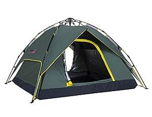 (マキノ)Makino 3-4人 アウトドア キャンプ インスタント ワンタッチ テント 防撥水 日焼け止め 0087 アーミーグリーン