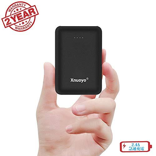 Xnuoyo モバイルバッテリー 10000mAh大容量 小型ミニパワーバンク コンパクトで軽量携帯バッテリー Type-c...