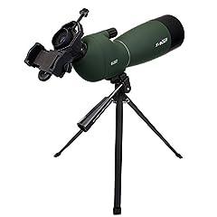 SVBONY SV28 フィールドスコープ 野鳥 観察 バードウォッチング 単眼望遠鏡 天体観測 25倍--75倍-70 mm 防水 スポッティングスコープ 三脚付き (25倍--75倍-70 mm)