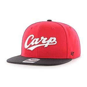 ベースボールキャップ 広島カープ Carp Script Side Two Tone '47 CAPTAIN レッドxブラック