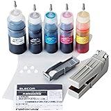ELECOM 詰替えインク キヤノン BCI-370371対応 5色セット(5回分) THC-371370SET5