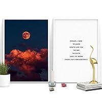 ラブストーリー詩文学動機付けインスピレーション引用符ポスター壁の写真ウォールアートキャンバスプリント-40x60cmx2 /フレームなし