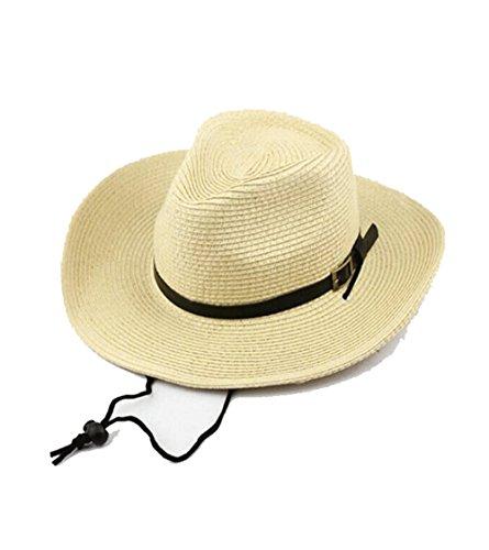 BAITER 麦わらハット 折りたたみ 2016 春夏 通気性 紫外線対策 釣り帽 キャップ メンズ 大きい 麦ワラ ストローハット メンズ 麦わら帽子 メンズ (頭周り:62CM, ベージュ)