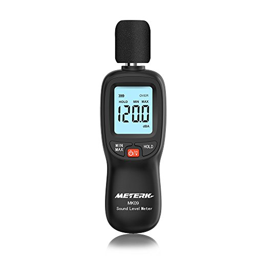 Meterk 騒音計 サウンドレベルメーター ノイズ測定機器 音量測定 手持ち LCD デジタル 30-130dB(A)電池付属