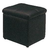 【スツール 収納】ボックススツール 収納ボックス オットマン 1人掛け キューブ型 ブラック