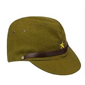 [ 精密複製 ウール 58cm ] 旧 日本軍 帝国 陸軍 初期 下士官兵 略帽 / ベルト 調節可