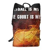 リュックサック バスケットボール は 私の生活 バックパック リュック 収納バッグ メンズ レディース 大容量 大人/大学生 通勤/通学/旅行/出張