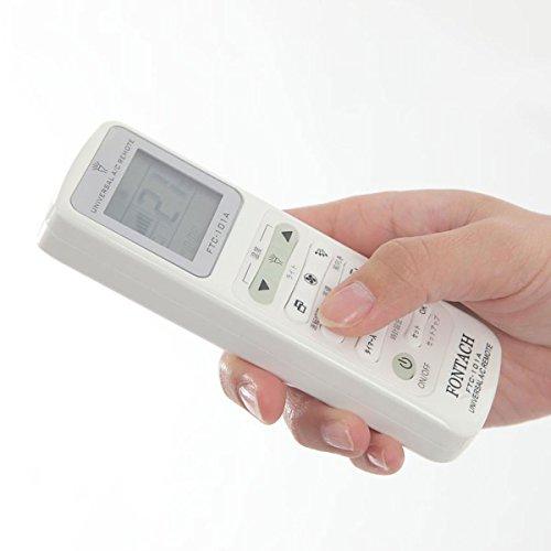 FONTACH(フォンタック)各社共通1000種対応 エアコン用ユニバーサルマルチリモコンFTC-101A  蛍光ボタン 上部ライト 自動検索機能搭載 日本語モデル 日本語説明書付き