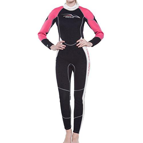 Perfeclan 女性 耐摩耗 3ミリネオプレン ウェットスーツ ダイビング サーフィン 水着 全6サイズ