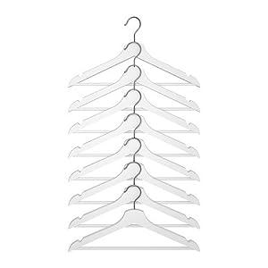 ★BUMERANG 洋服ハンガー 8ピース / ホワイト[イケア]IKEA(10161083)