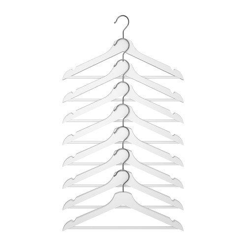 RoomClip商品情報 - ★BUMERANG 洋服ハンガー 8ピース / ホワイト[イケア]IKEA(10161083)