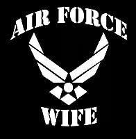 マカリオスLLC空軍妻デカールビニールステッカーCars Trucks Vans壁ノートパソコンmkr|ホワイト|5.5X 5.5in|mkr156
