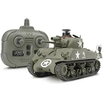 タミヤ 1/35 ラジオコントロールタンクシリーズ No.12 RC アメリカ M4 シャーマン (2.4GHzプロポ + バトルユニット付)