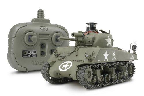 1/35 ラジオコントロールタンクシリーズ No.12 RC アメリカ M4 シャーマン (2.4GHzプロポ + バトルユニット付)