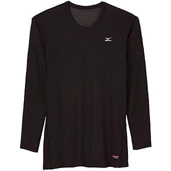 ミズノ(MIZUNO) ブレスサーモ ミドルウエイト クルーネック長袖シャツ A2JA5509 09 ブラック LM